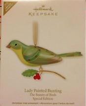 Hallmark 2012 Lady Painted Bunting The Beauty Of Birds LTD Quantity QXE3064 - $99.99