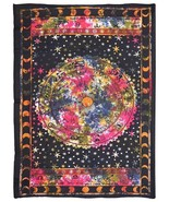 Galaxy Wall Hanging Throw Decor Cotton Bedspread Indian Decorative Tapestry - $13.85