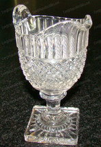 Westmoreland English Hobail Pedestal Creamer (Heptagon Stem, Square Star... - $22.28