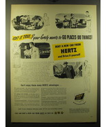 1950 Hertz Rent a Car Ad - Isn't it true? Your family wants to go places - $14.99
