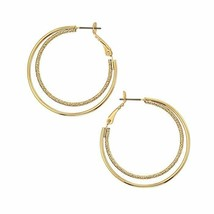 Avon Rising Star Hoop Earrings Goldtone - $15.84