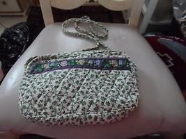 Vera Bradley small handbag w/ long braided strap in retired Lilac Time p... - $18.00