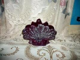 Royal Haeger Purple Aqua Pottery Vase Feather Bow Rare Color Mid Century - $39.99