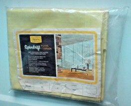 "Sears Spindrift Semi-Sheer Batiste Panel Curtain 60"" By 81"" Tailored Yellow - $7.84"