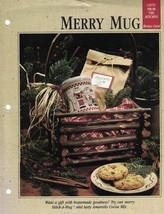MERRY MUG a Stitch-A-Mug Pattern with Amaretto Cocoa Mix Recipe Included - $3.46
