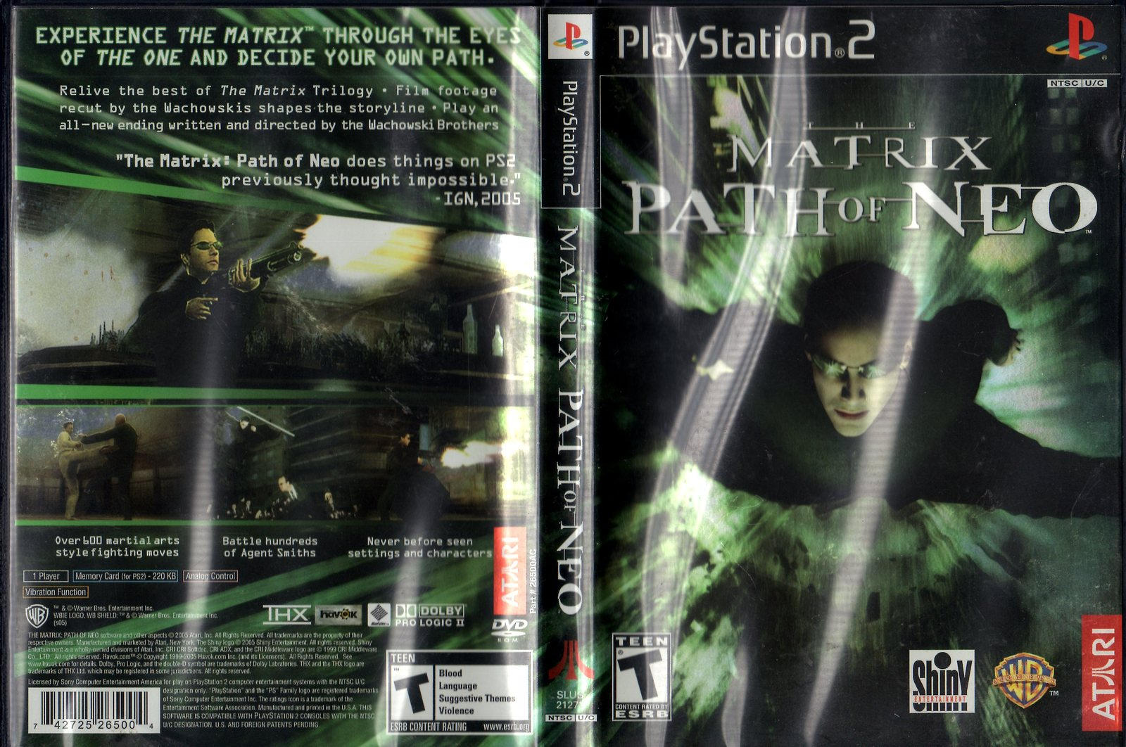 PlayStation 2 : Matrix Path of Neo