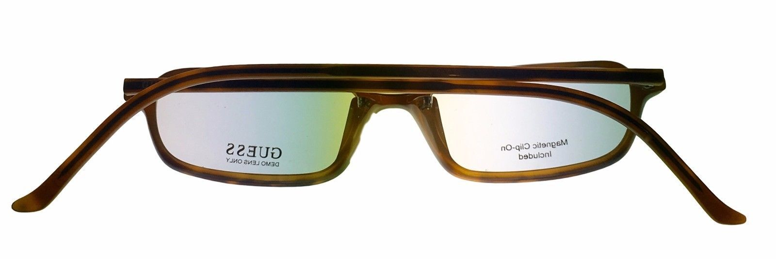 Guess Ophthalmic Mens Eyeglass Plastic Rectangle 1331 Demi Amber image 4
