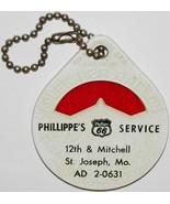 Vintage mileage calculator PHILLIPS 66 gas oil Phillippes Service St Jos... - $14.99