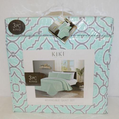 Kiki Collection BCSK25250 Three Piece Reversible Quilt Set