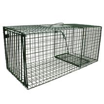 "Heavy Duty Large Cat Raccoon Fox Trap Cage Trap 36"" x15"" x 14""  Humane L... - $95.99"