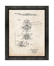 Aircraft Of The Direct Lift Amphiblan Patent Print Old Look with Beveled... - $24.95+