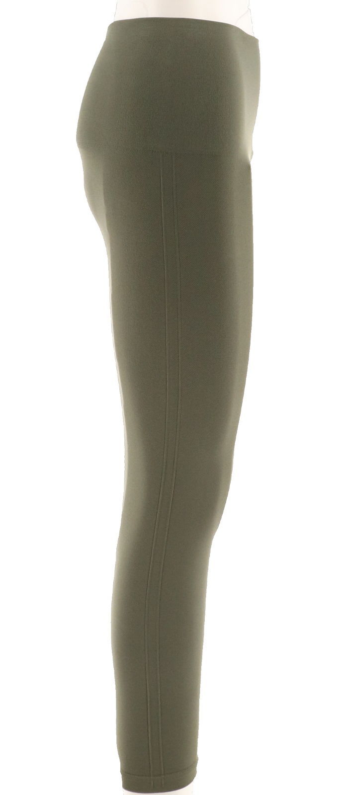 b658b7e7ea5484 Spanx Cropped Look Me Now Seamless Leggings Olive Green 3X NEW A288466