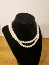 NAPIER FAUX PEARL DOUBLE STRAND NECKLACE - $19.95
