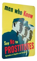 Ww2 Just Say No Vd Psa Poster Reproduction Sign 8 X 12 Inches New Aluminum - $20.00