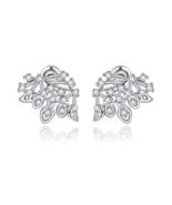 Brand New Design Charm Simple Clear Crystal Stud Earrings Women - $19.99