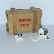Parcel Pets, porcelain cat miniatures, dollhouse - £11.26 GBP