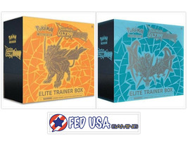 Pokemon TCG Ultra Prism Elite Trainer Box Dusk Mane & Dawn Wings Necrozm... - $97.95
