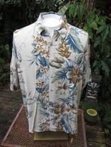 Hawaiian ALOHA shirt XL pit to pit 26 CAMPIA MODA rayon tropical floral - $14.69