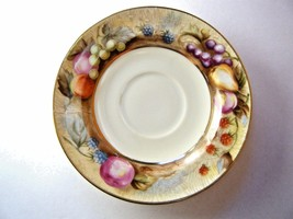 Ragrl Royal Sealy Saucer Fruit Pattern Grapes Berries Pear Hand Painted... - $7.87