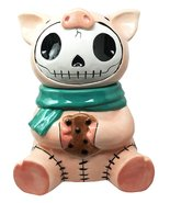 Furry Bones Bacon Ceramic Cookie Jar Collectible Kitchen Hosting Dining ... - $41.99