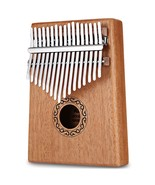 17 Tone Wooden Kalimba Thumb Piano Portable(BURLYWOOD) - $25.47
