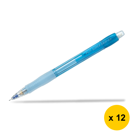 Primary image for Pilot Super Grip Neon H-185N 0.5mm Mechanical Pencil (12pcs), Blue, H-185N-B
