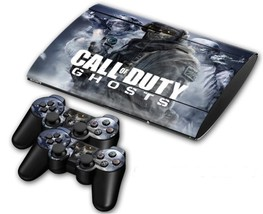 Call of duty design decal for ps3 slim 3000 console & controllers skin - $15.00