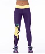Woman Dog Riding Bicycle Yoga Leggings Unisex Fitness Gym Stretch Workou... - $14.99
