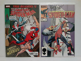 AMAZING SPIDER-MAN #101 FIRST MORBIUS (TRUE BELIEVER) + WEB OF #2  FREE ... - $14.03