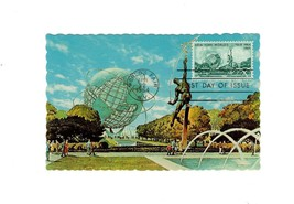 POSTCARD-VINTAGE PLAZA OF THE ASTRONAUTS-NY WORLD'S FAIR- FIRST DAY ISSU... - $4.90