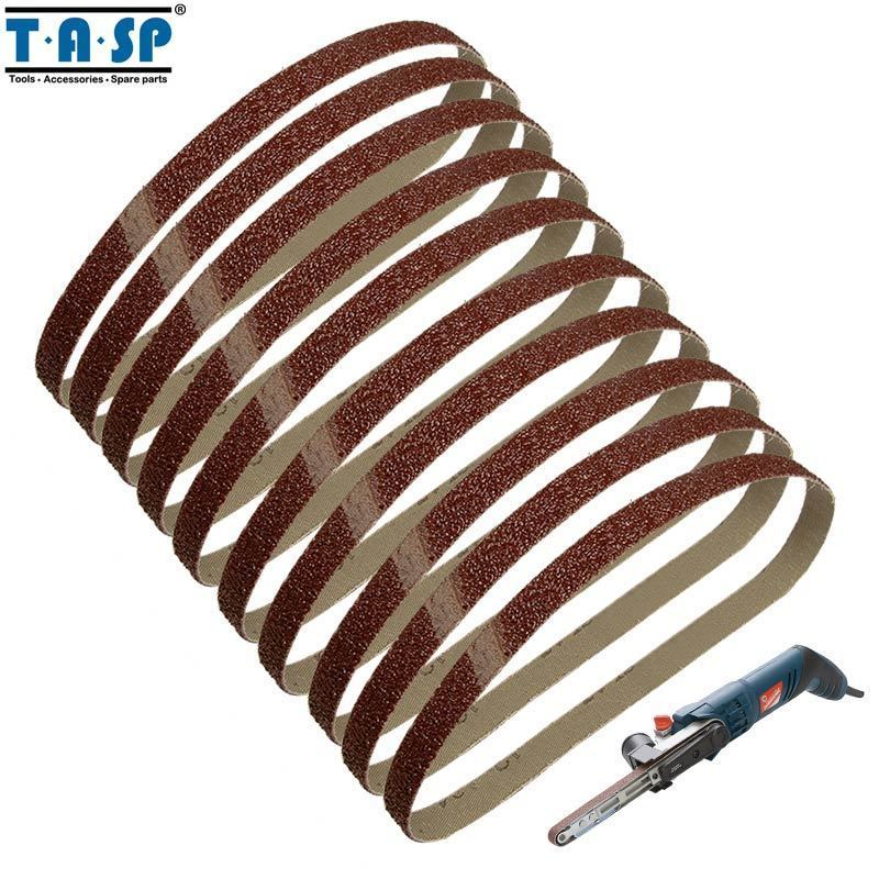 "Primary image for TASP® 10pc/Lot 13x457mm Abrasive 1/2""x18"" Belt Sander Sandpaper Aluminium"