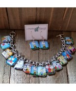 Charlie Brown The Peanuts Character Charm Bracelet Set Snoopy Lucy Patty... - $24.25