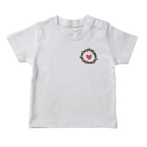 Cute Pocket Christmas Wreath With Heart  Girl's White T-shirt - £12.11 GBP