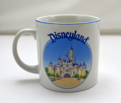 Vintage Disneyland Walt Disney World Mug - Small White & Blue Child's Cup - $17.05