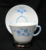Spode Cup and Saucer Set - Geisha Light Blue Bone China Blanche de Chine England - $16.78