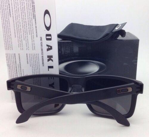 Polarized Oakley Sunglasses HOLBROOK OO9102-52 Matte Black w/ ICE Iridium Lenses