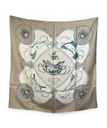 Authentic Hermes Paris Vintage Gray Silk Scarf Springs 1974 Philippe Ledoux - $316.80