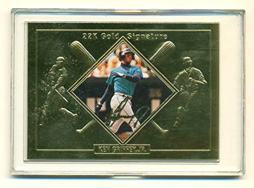 1995 Ken Griffey Jr. Premiere Mint 22 Gold Signature Card with COA Serial No. 32