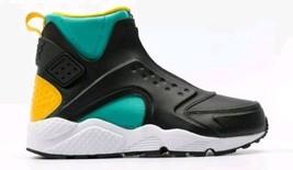 Size 7 Nike Women Air Huarache Run Mid Shoes 807313 301 Black White Yellow - $1.335,79 MXN