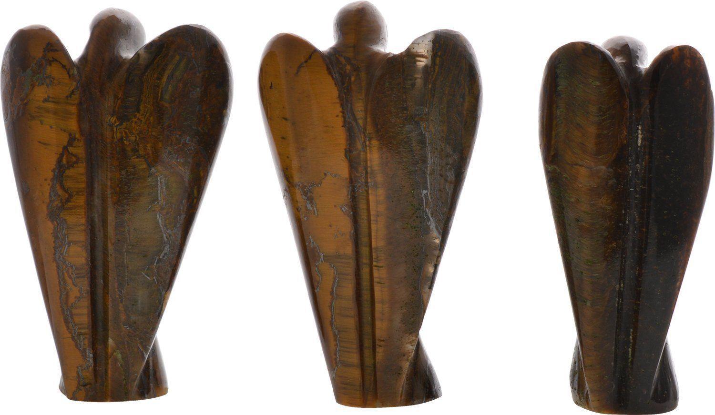 Tiger eye handmade angel carved figurine and similar items