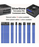 sliverstone full modular psu cables customized sleeved sliverplated cables - $25.00