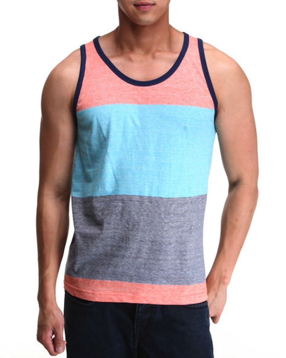"Jordan Craig Block Blue&Gray Tank Top LR42 ""Large"""