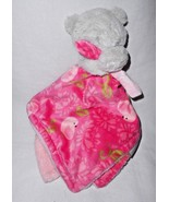 Blankets and Beyond Pink Grey Bear Birds Baby Security Blanket Pacifier ... - $13.84