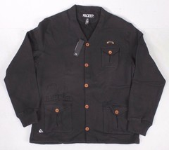 Ten 10.Deep Black Veterans Card Fleece Cardigan Sweater Jacket 2XL 3XL NW - $96.80