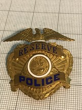 Eureka California Police Hat Badge Obsolete Reserve - $85.00