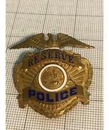 Eureka California Police Hat Badge Obsolete Reserve - $85.00