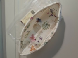 Longaberger Small Loaf Biscuit Basket Botanical Fields Drop In Liner Only New - $8.86