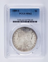 1889-S $1 Silver Morgan Dollar Graded by PCGS as MS62! Great Coin! - $321.74