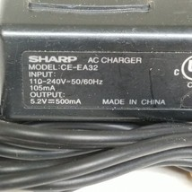 Sharp CE-EA32 AC Charger Adapter Output 5.2V 500mA - $372,62 MXN