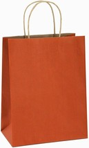BagDream Orange Stripe 100% Recycled Paper Gift Bags/Kraft Bags, 8x4.25x... - $24.99